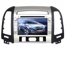 7\ Hyundai Santa Fe DVD Player with Bluetooth, Ipod and GPS map with 4G SD card