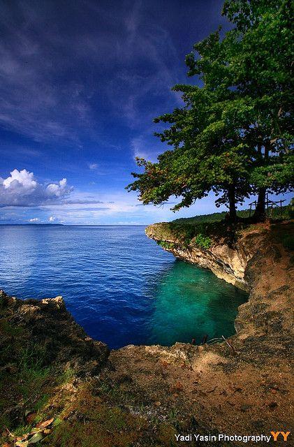 Hidden cove in Biak, West Papua, Indonesia.