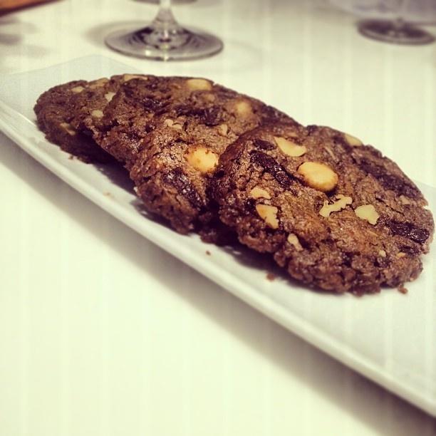 Chocolate hazelnut sea salt cookies - Tom Kerridge at The Cube by Electrolux