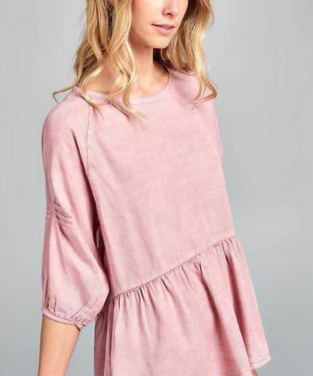 aef40637390 Spicy Mix   Dusty Mauve Tencel Peasant Top - Women in 2019   shirts ...