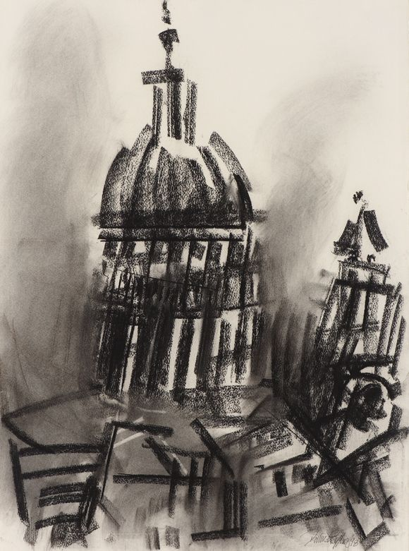 St Paul's Cathedral from Clifford Chance, Aldersgate; Dennis Creffield