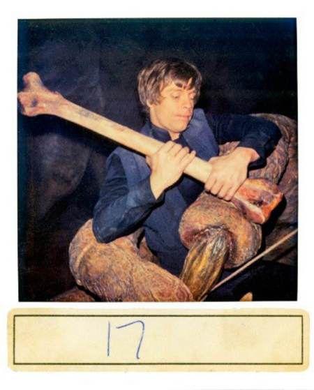 Mark Hamill as Luke Skywalker in the grip of the rancor