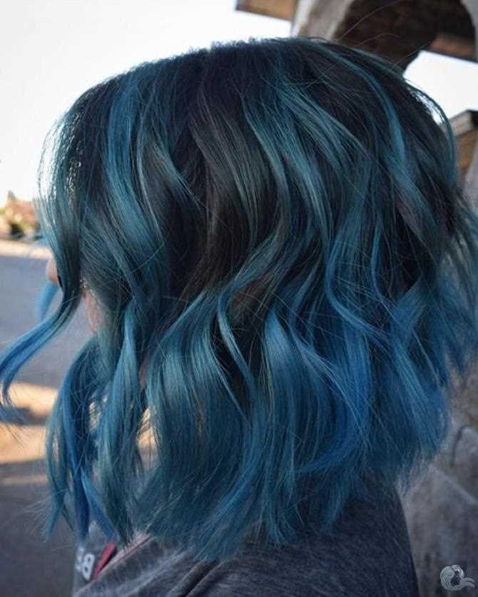 40 Popular Ideas For Short Blue Hair 2019 Kurze Blaue Haare