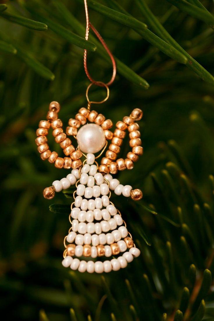 ber ideen zu weihnachten ornamente mit perlen auf. Black Bedroom Furniture Sets. Home Design Ideas