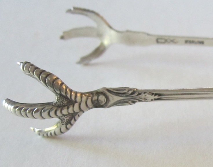 Sterling Silver Vintage Sugar Tongs from Cowell and Hubbard