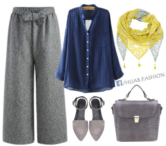 Casual Blue & Grey Outfit Idea - Prices & Stores