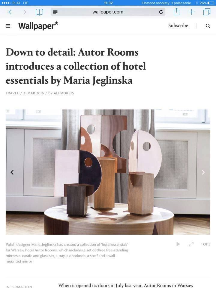 PION X HOTEL ESSENTIALS   MARIA JEGLIŃSKA FOR AUTOR ROOMS