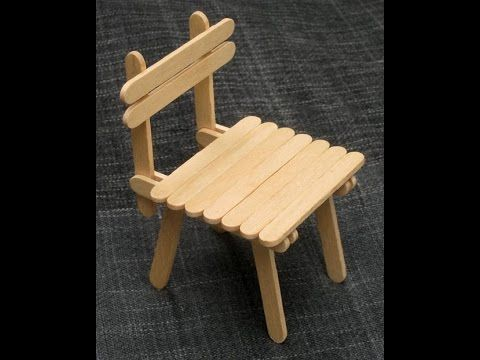 DIY  Popsicle Stick Chair  Craft For Kid  YouTube nice