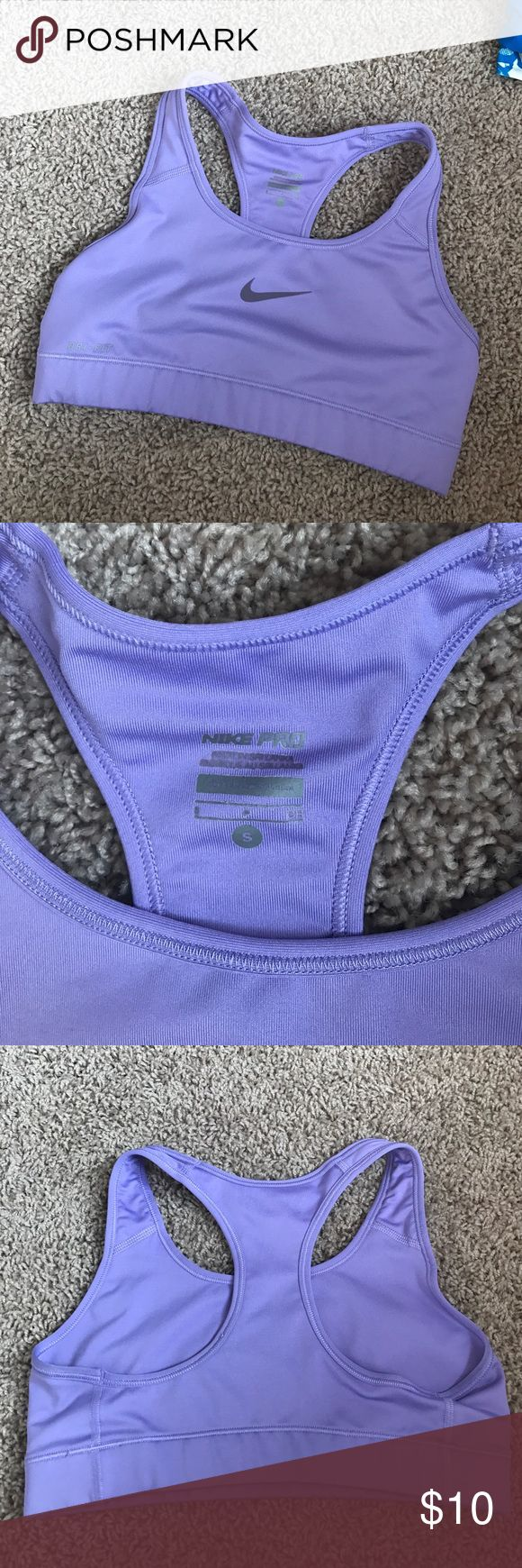 Nike Pro Women's Sports Bra Size small lavender Nike pro compression sports bra in size Small. Has been used but quality still looks and feels like new! Nike Intimates & Sleepwear Bras
