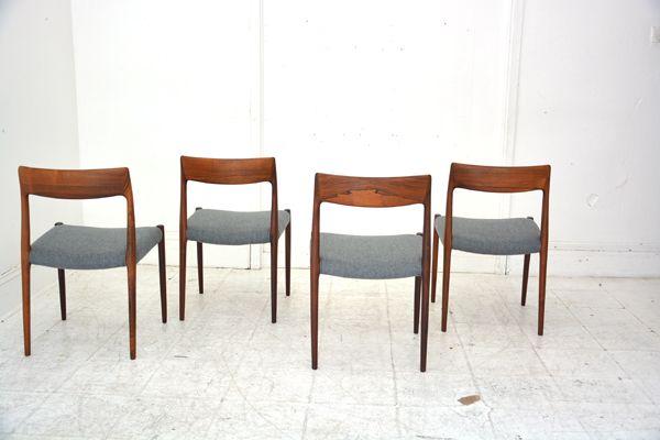 møller chairs restored in bute tweed