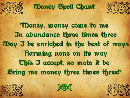 Money Spell - should be done on the  Day and Hour of Jupiter.  Use a Green…