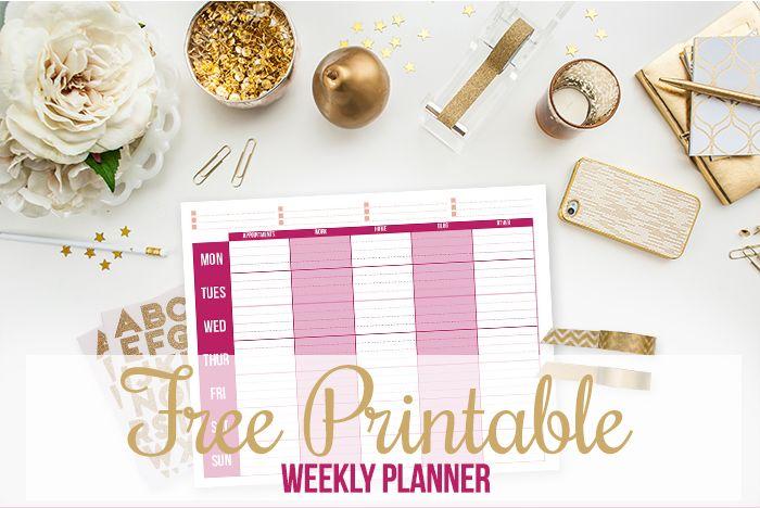Pianificatore settimanale stampabile gratuito!