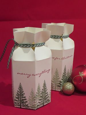Star Top Gift Box - Video Tutorial using Festival of Trees by Stampin' Up, Ideal for Jars.of Jam or Chutney