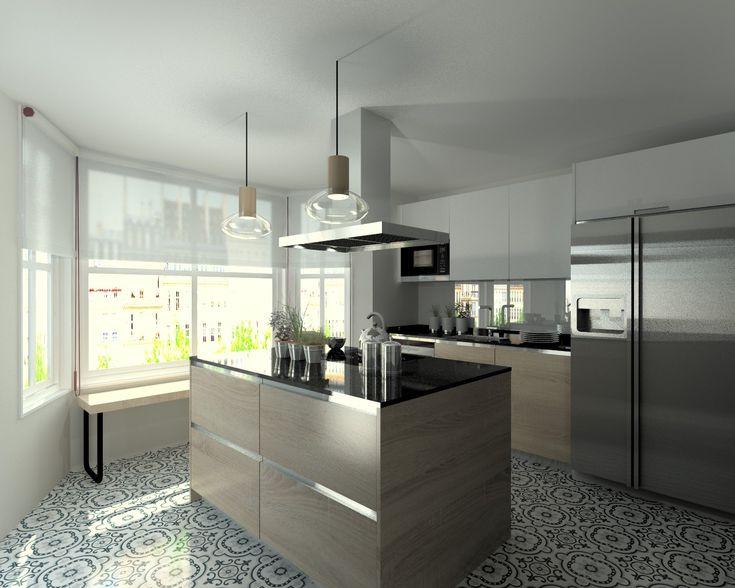 Mejores 7 imágenes de Cocinas cubierta negra en Pinterest | Alacena ...
