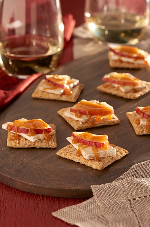 caramel to triscuit crackers and this sweet snack will be the apple of everyones eye halloween party food ideas brought to you by evite in partnership - Evite Halloween Party