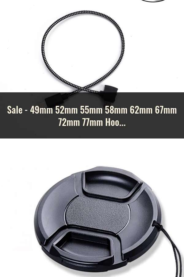 49mm 52mm 55mm 58mm 62mm 67mm 72mm 77mm Hood Cover Snap On Lens Front Camera Cap For Sony Alpha DSLR Protector