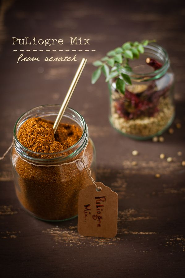 PuLiyogare mix from scratch - The king of South Indian spice mixes @ Just Homemade