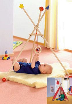 HABA Dangle & Drape Baby Gym / Toddler Teepee - Can Justin make this?