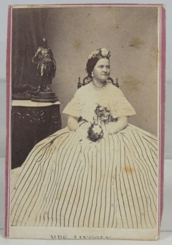 1862 Mary Todd Lincoln Cdv Photograph Wife Of Abraham