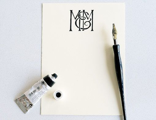 Anne Robin's stunning custom monograms and calligraphy...
