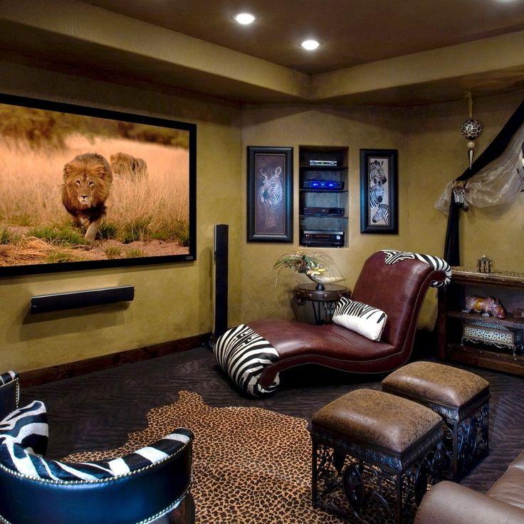 Стены окрашены в характерные для африканского стиля цвета – светло коричневые, бежевые, оранжевые.