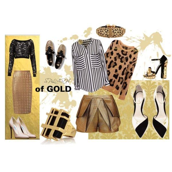"""Splash of gold"" by hawkeye4 on Polyvore"