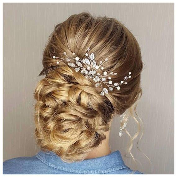 Bridal hair accessories Bobby pins  Wedding hair clip Pearl Bridal hair comb Rhinestone Wedding hair comb Bridal hair clip Wedding hair boho
