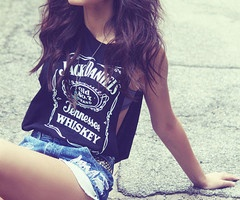 love this.Fashion, Summer Outfit, Style, Shirts, Jack O'Connel, Whiskey Girls, Jeans Shorts, Jackdaniels, Jack Daniels