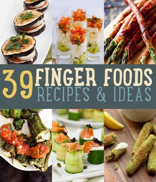 Easy finger foods and party food ideas. This includes recipes for parties homemade cold appetizers and finger food appetizers. Make your party be a hit!