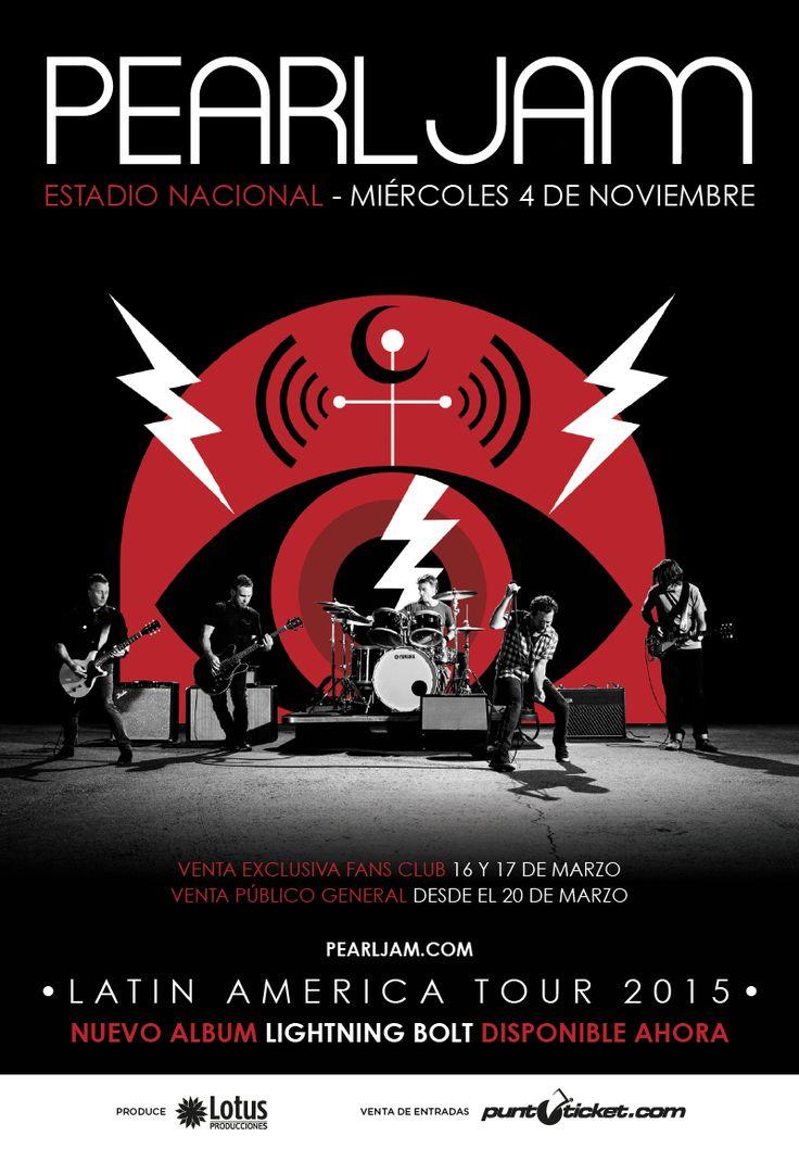 Pearl Jam - 4 de noviembre - Estadio Nacional #PearlJamenChile
