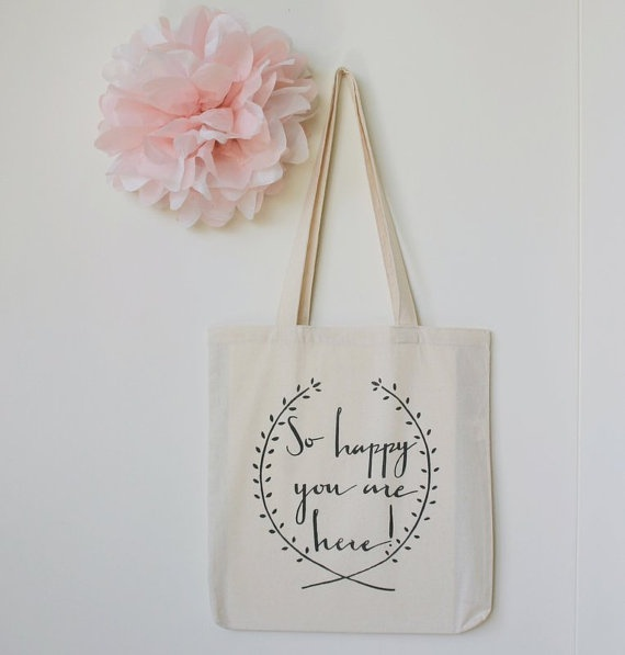 Welcome to our Wedding Gift Tote Bag for Guests by DreamState, $10.00 @Jessica Sutton Green