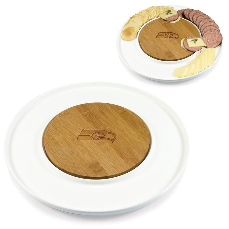 Picnic Time NFL NFC Teams Island Serving Plate (Philadelphia Eagles), Tan (Porcelain)