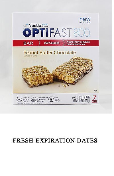 Meal Replacement Drinks: New Formula | Optifast® 800 Meal Replacement Bar | Peanut Butter | 6 Boxes -> BUY IT NOW ONLY: $125 on eBay!