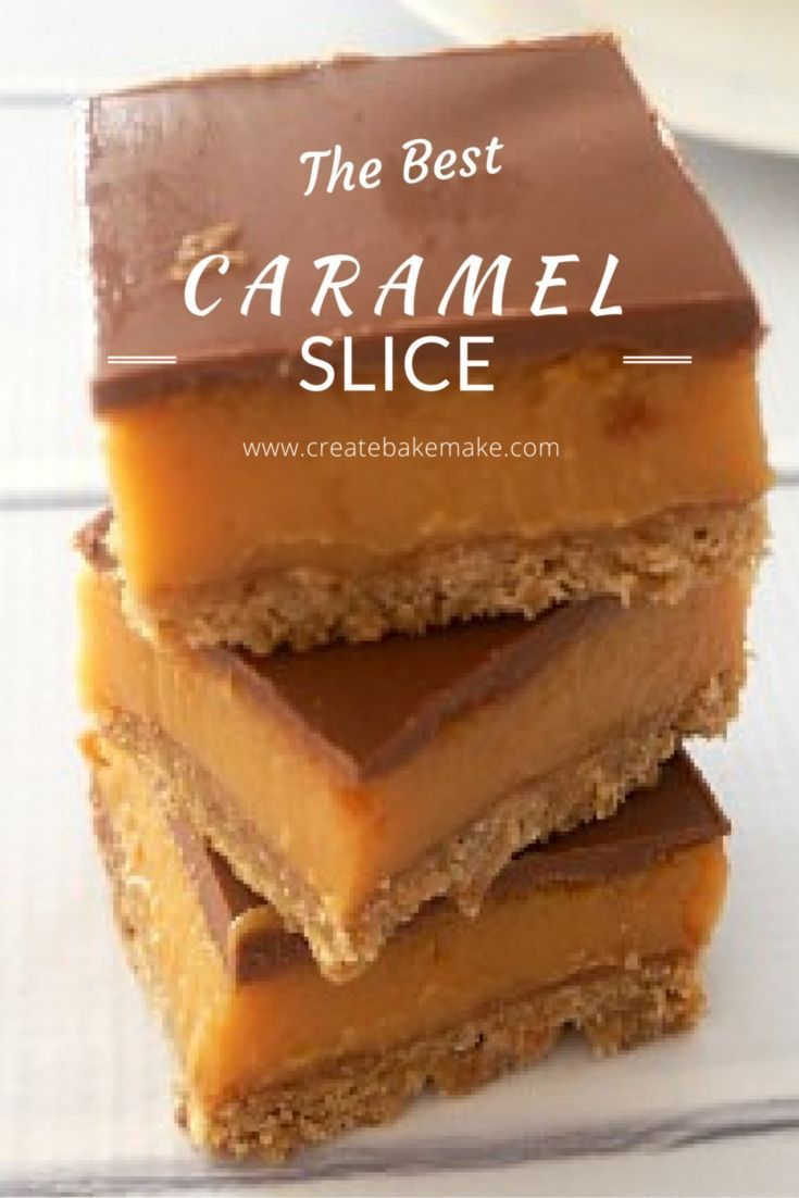 The BEST Caramel Slice Recipe you will ever make! Thermomix Instructions also included. #DesertsFoodRecipes