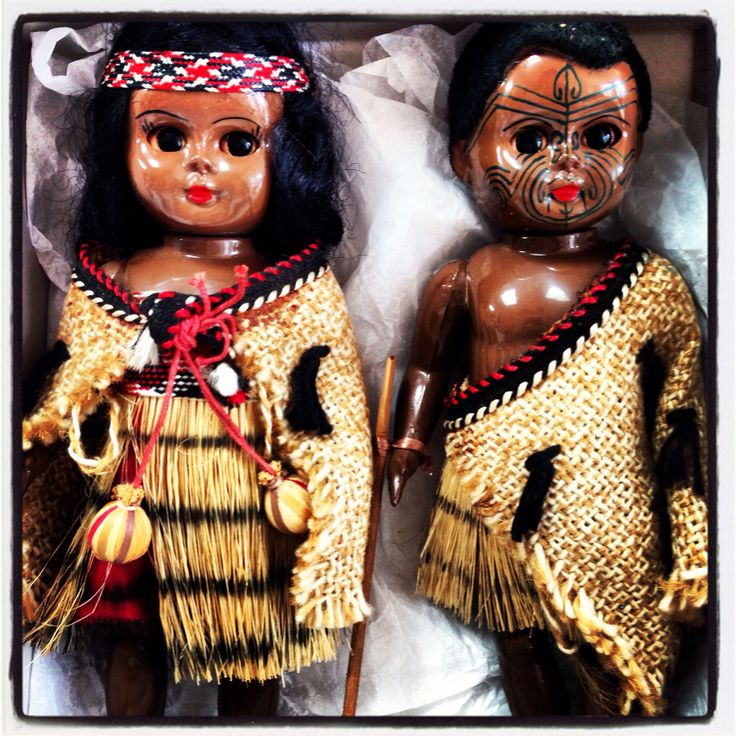 Hutu and Kawa #maori #dolls #kiwiana
