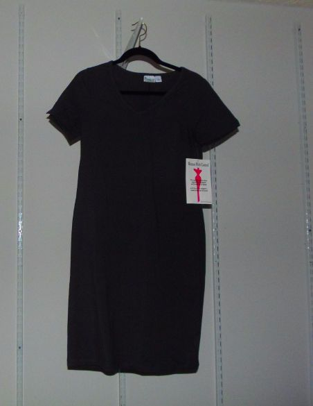 Women with Control Solid Short Sleeve Dress Graphite Sz S NWT QVC A225287 #Grays #Casual