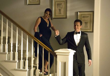 """Rachel and Jesse in the special two-hour """"2009/Dreams Come True"""" Series Finale episode of GLEE"""