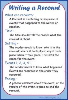 examples of recount writing in grade 5 - Google Search