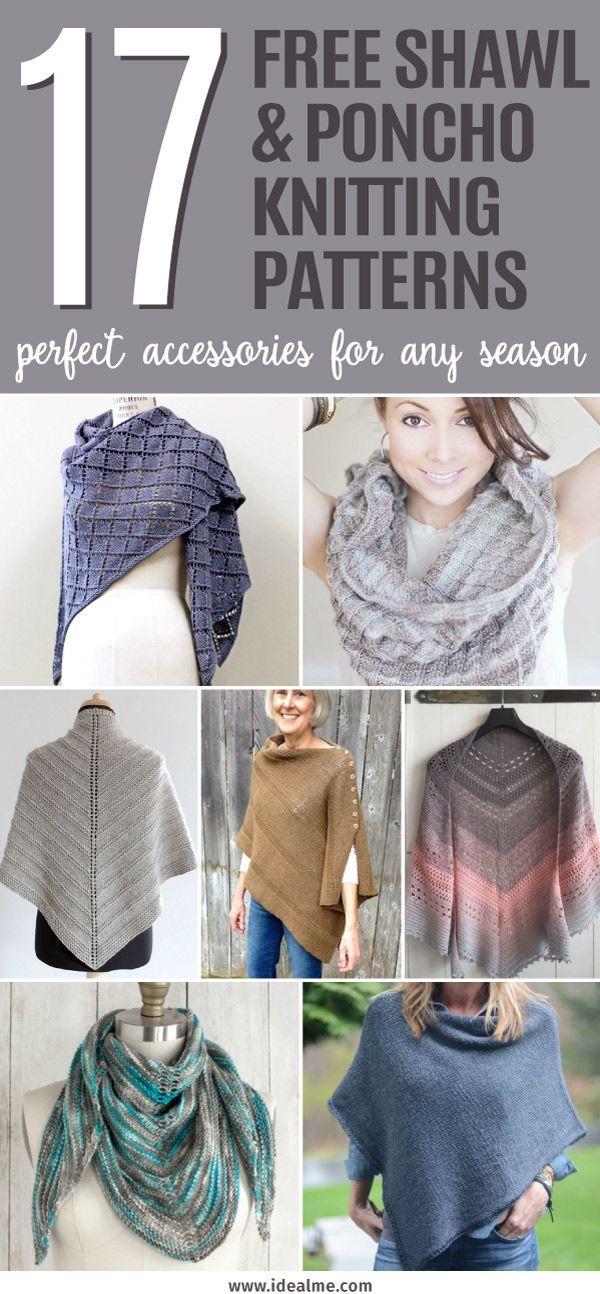 17 Free Shawl and Poncho Knitting Patterns | Knitting | Pinterest ...