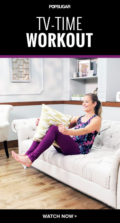 Turn your couch into a gym with this 10-minute workout you can do wall catching up on Fall TV! I don`t have a tv at home, so this is for you! ;-)