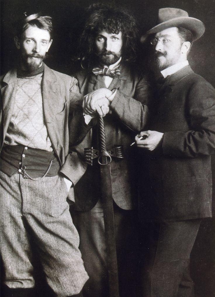 Vasily Kandinsky (right), Dmitry Kardovsky (center), A. Seddeler (left) in the Azbe-Schule, Munich, c1897Dapper But, Munich, Artists Studios, Kardovski Center, C1897, Seddel Left, Dmitry Kardovski, Azbeschul, Vasili Kandinsky