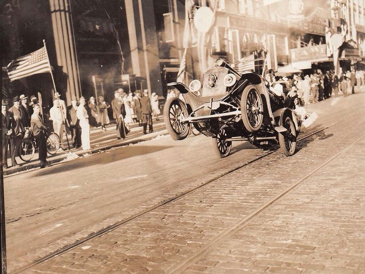 The first wheelie ever photographed, 1936.