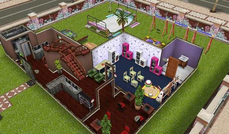 #Sims #Freeplay I Really Like Ow The Two Staircases Work
