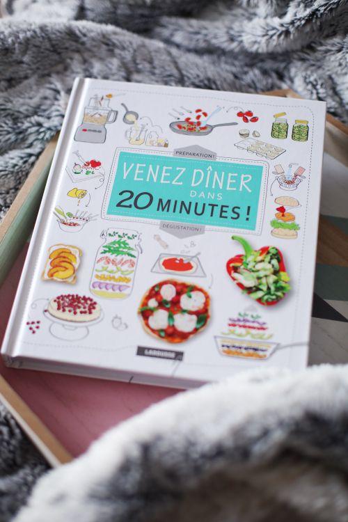J'ai un nouveau chouette livre de recettes à vous présenter :Venez dîner dans 20 minutes ! Lorsque Larousse me l'a présenté, j'avoue qu'il a aiguisé ma cu                                                                                                                                                     Plus