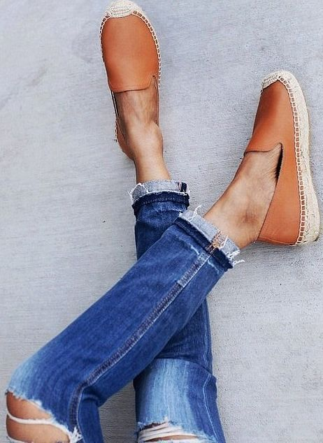 Soludos 'Leather espadrilles' // available at the Town & Country location