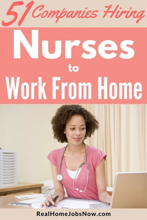 Be a work from home nurse! These companies have work form home nursing jobs in case management, telephone triage, and more.