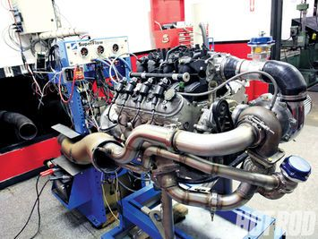 We put together a 5.3L Gen III small-block with a China made turbo for $3,252. On the dyno the 5.3L made 594hp and 588tq.