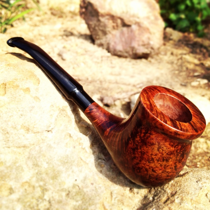 Hand made briar pipe.