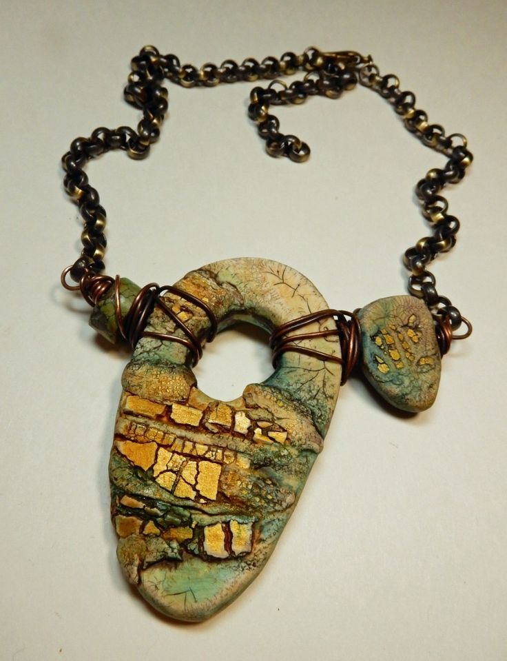 608 best polymer clay necklaces 4 images on pinterest jewelry gold rush the rustic crackle technique with staci louise smith polymer clay online class tutorial mozeypictures