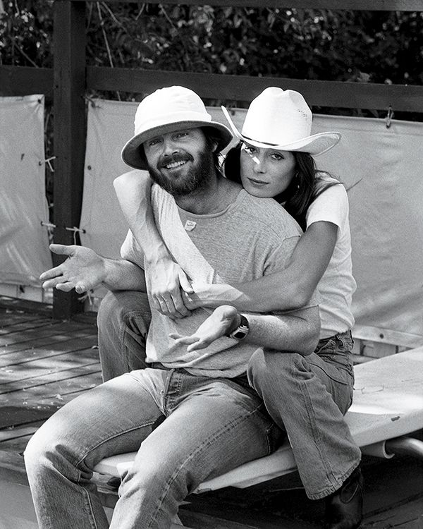 Anjelica Huston and Jack Nicholson in Montana photographed by Harry Benson, 1975,